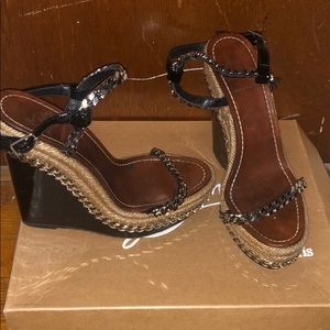 Christian Louboutin Chain link wedges